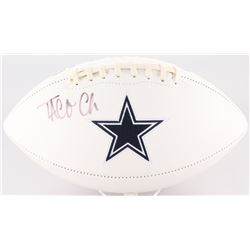 Taco Charlton Signed Cowboys Logo Football (JSA COA)
