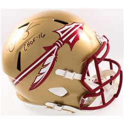"Derrick Brooks Signed Florida State Seminoles Full-Size Speed Helmet Inscribed ""CHOF 16"" (Radtke COA"