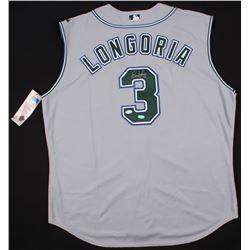 Evan Longoria Signed Rays Jersey (JSA Hologram  Longoria Hologram)