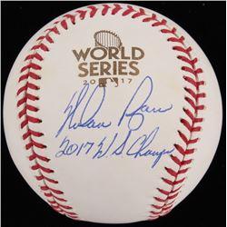 "Nolan Ryan Signed 2017 World Series OML Baseball Inscribed ""2017 W.S. Champs"" (Beckett COA  Ryan Hol"