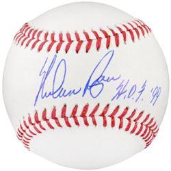 Nolan Ryan Signed OML Baseball Inscribed  H.O.F. '99  (Fanatics Hologram)