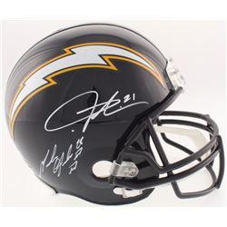 Melvin Gordon  LaDainian Tomlinson Signed Chargers Full-Size Throwback Helmet (Radtke COA  Tomlinson