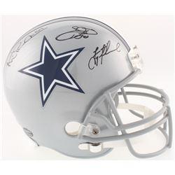 Emmitt Smith, Troy Aikman  Michael Irvin Signed Cowboys Full-Size Helmet (Radtke COA, Prova COA, Aik