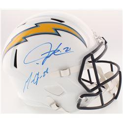 Melvin Gordon  LaDainian Tomlinson Signed Chargers Full-Size Speed Helmet (Radtke COA  Gordon Hologr