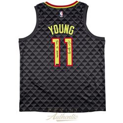 "Trae Young Signed LE Hawks Nike Jersey Inscribed ""True To Atlanta"" (Panini COA)"