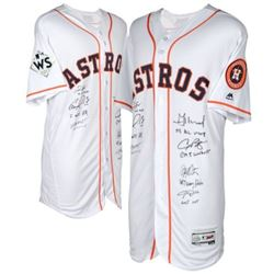 LE Astros Jersey Team-Signed by (7) With Brian McCann, Carlos Correa, George Springer, Yuli Gurriel