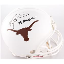 "Ricky Williams Signed Texas Longhorns Full-Size On-Field Throwback Helmet Inscribed ""98 Heisman"" (Ra"