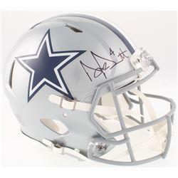 Dak Prescott Signed Cowboys Full-Size On-Field Speed Helmet (Prescott Hologram  Beckett COA)