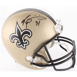 Ricky Williams Signed Saints Full-Size Helmet (JSA COA)