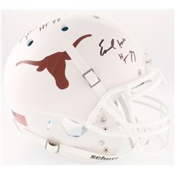 Ricky Williams  Earl Campbell Signed Texas Longhorns Full-Size On-Field Helmet Inscribed  HT 77    H