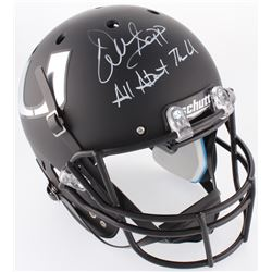 "Warren Sapp Signed Miami Hurricanes Full-Size Matte Black Helmet Inscribed ""All About The U"" (JSA CO"
