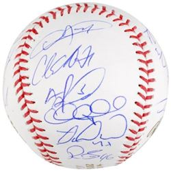 Chicago Cubs 2016 World Series Baseball Team-Signed By (20) With Kris Bryant, Anthony Rizzo, Javier