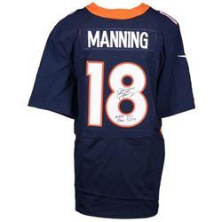 """Peyton Manning Signed Broncos Nike Jersey Inscribed """"NFL TD Rec 509"""" (Fanatics Hologram)"""