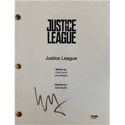 "Ezra Miller Signed ""Justice League"" Full Movie Script (PSA COA)"