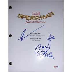"Tom Holland, Laura Harrier  Jacob Batalon ""Spider-Man: Homecoming"" Full Movie Script (PSA LOA)"
