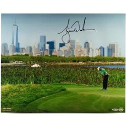 "Tiger Woods Signed ""NYC Skyline"" LE 16x20 Photo (UDA COA)"