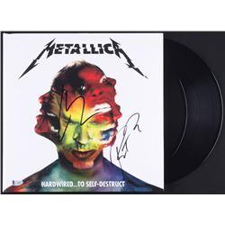 "Lars Ulrich  Robert Trujillo Signed Metallica ""Hardwired... To Self-Destruct"" Vinyl Record Album Cov"