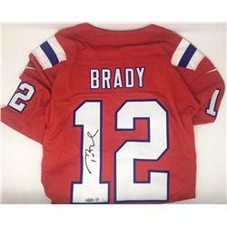 Tom Brady Signed LE Patriots Nike Vapor Elite Red Jersey (Steiner COA  TriStar Hologram)