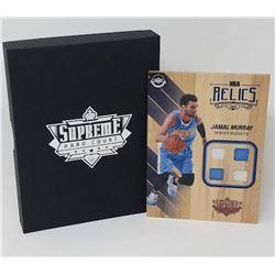 Jamal Murray 2016-17 Upper Deck Supreme Hardcourt NBA Relics Floor With (4) Jersey Swatches