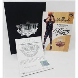 Alonzo Mourning Signed 2016-17 Upper Deck Supreme Hardcourt NBA Autographs Relic Floor (UDA COA)