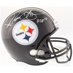 "Jerome Bettis Signed Steelers Full-Size Helmet Inscribed ""HOF 15"" (JSA COA)"
