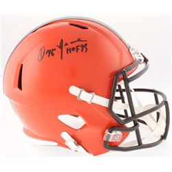 "Ozzie Newsome Signed Browns Full-Size Speed Helmet Inscribed ""HOF 99"" (JSA COA)"