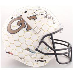 Demaryius Thomas Signed Georgia Tech Yellow Jackets Full-Size Helmet (Radtke COA)