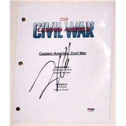 "Frank Grillo Signed ""Captain America: Civil War"" Full Movie Script (PSA COA)"