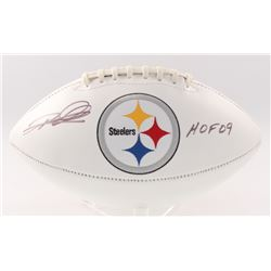 "Rod Woodson Signed Steelers Logo Football Inscribed ""HOF 09"" (JSA COA)"