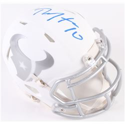 DeAndre Hopkins Signed Texans White Ice Custom Matte Speed Mini-Helmet (Radtke COA)