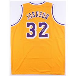 Magic Johnson Signed Lakers Jersey (Radtke COA)
