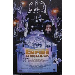 "Jeremy Bulloch Signed ""The Empire Strikes Back"" 24x36 Movie Poster Inscribed ""Boba Fett"" (Radtke COA"