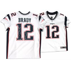 Tom Brady Signed Patriots LE Jersey Inscribed  SB 51 Champs  (Steiner COA  TriStar Hologram)