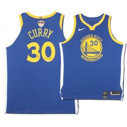 "Stephen Curry Signed Warriors Limited Edition Nike Jersey with NBA Finals Patch Inscribed ""2018 NBA"