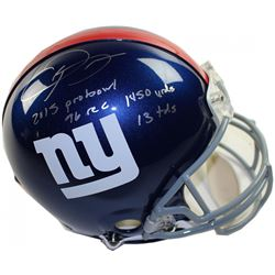 "Odell Beckham Jr. Signed Giants LE Full-Size Authentic On-Field Helmet Inscribed ""2015 Probowl"", ""14"