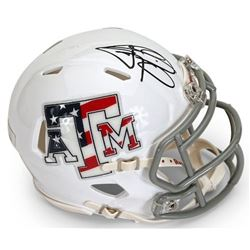 "Johnny Manziel Signed Texas AM Aggies ""Stars  Stripes"" Mini Speed Helmet (Panini COA)"
