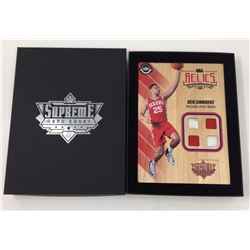 Ben Simmons 2016-17 Upper Deck Supreme Hardcourt NBA Relics Floor With (4) Jersey Swatches