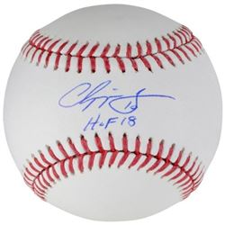 "Chipper Jones Signed Baseball Inscribed ""HOF 18"" (Fanatics Hologram)"