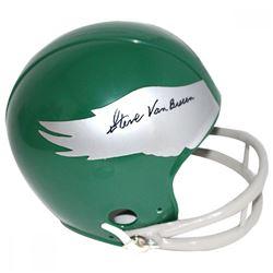 Steve Van Buren Signed Eagles Mini Helmet (JSA COA)