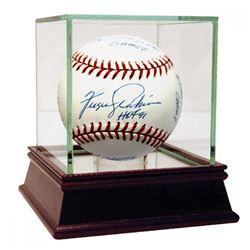 "Fergie Jenkins Signed Baseball with (13) Career Stat Inscriptions Including ""HOF 91"" (Reggie Jackson"