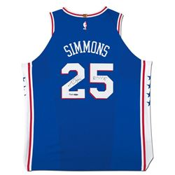 "Ben Simmons Signed 76ers Authentic Jersey Inscribed ""ROY 18"" (UDA COA)"