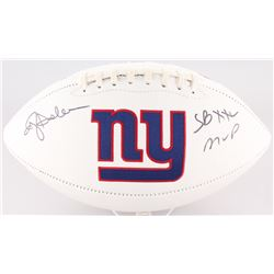 "Ottis Anderson Signed Giants Logo Football Inscribed ""SBXXI MVP"" (JSA COA)"