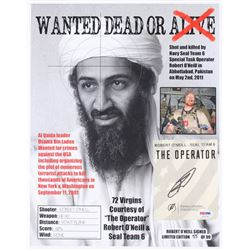 "Robert O'Neill Signed LE ""Bin Laden Wanted Dead or Alive"" 11x14 Photo (PSA COA)"