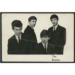 """Pete Best, George Harrison  John Lennon Signed """"The Beatles"""" 3.5x5.5 Photo with (4) Inscriptions (PS"""