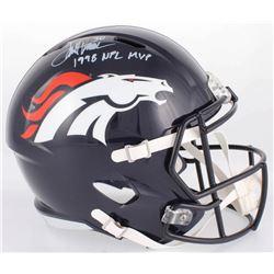 "Terrell Davis Signed Broncos Full-Size Speed Helmet Inscribed ""1998 NFL MVP"" (Radtke COA)"