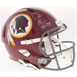 Derrius Guice Signed Redskins Full-Size Speed Helmet (Radtke COA)