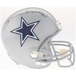 Emmitt Smith  Tony Dorsett Signed Cowboys Full-Size Helmet (PROVA Hologram  Radtke COA)