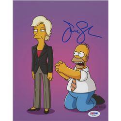 Jane Lynch Signed  The Simpsons  8x10 Photo (PSA COA)