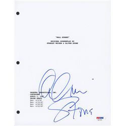 Oliver Stone Signed  Wall Street  Movie Script Cover (PSA COA)
