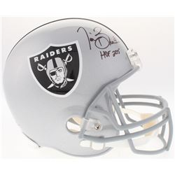 Tim Brown Signed Raiders Full-Size Helmet Inscribed  HOF 2015  (Radtke COA)